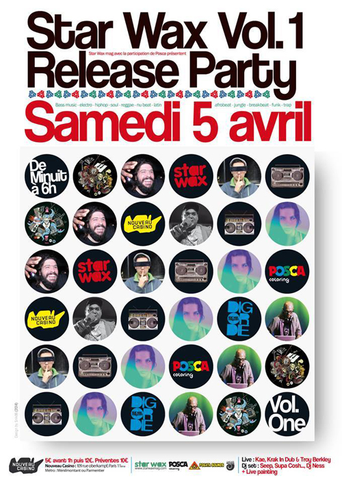 STAR WAX VOL.1 RELEASE PARTY AVEC KAE en LIVE au NOUVEAU CASINO !