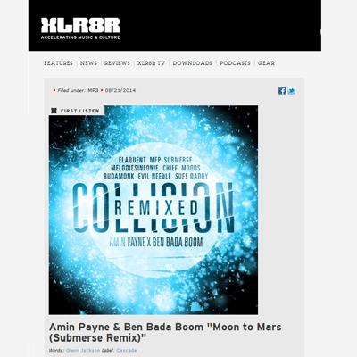 XLR8R - Free Download: Amin Payne & Ben Bada Boom - Moon to Mars (Submerse Remix) hip hop electronic beats
