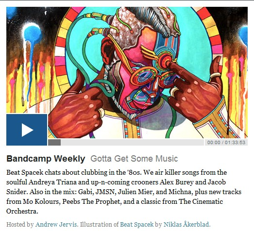 Julien Mier at Bandcamp Weekly with  Gabi, JMSN and Michna,Mo Kolours, Peebs The Prophet,